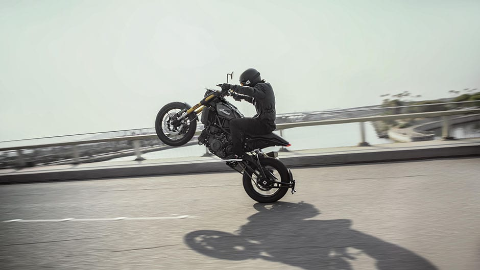 picture of Indian FTR1200 wheelie