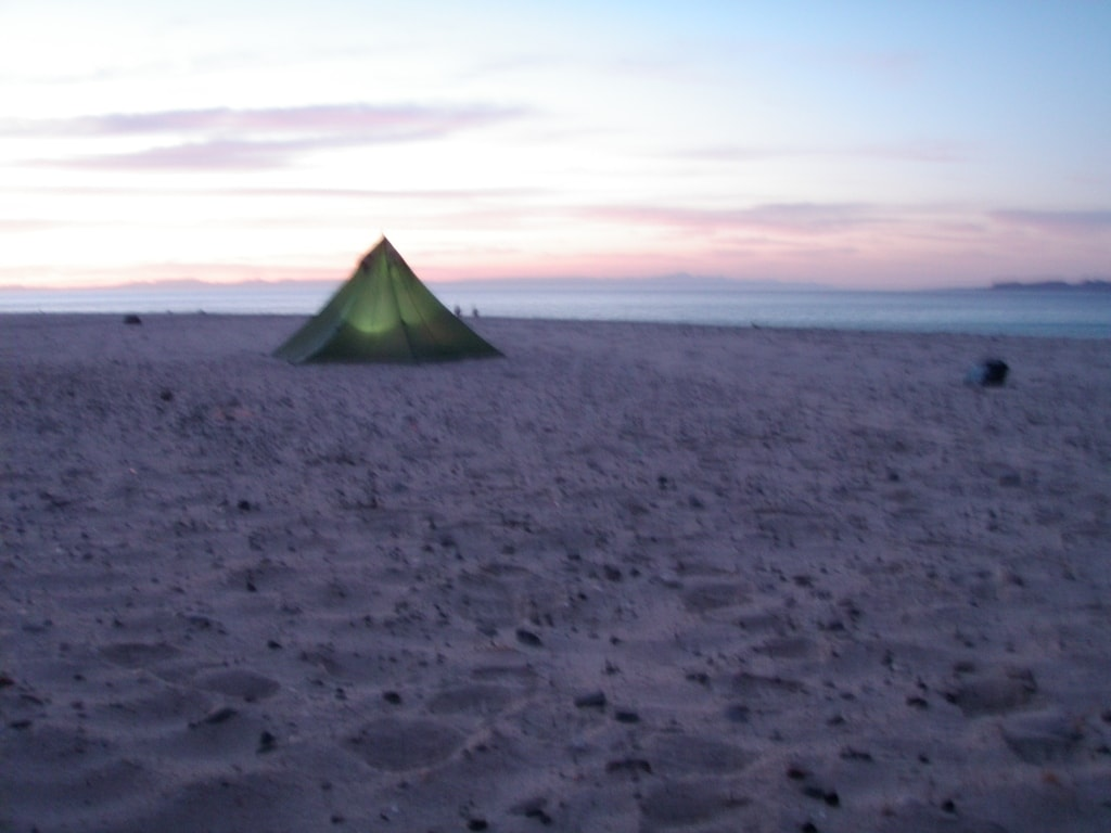 picture of beach tent camping