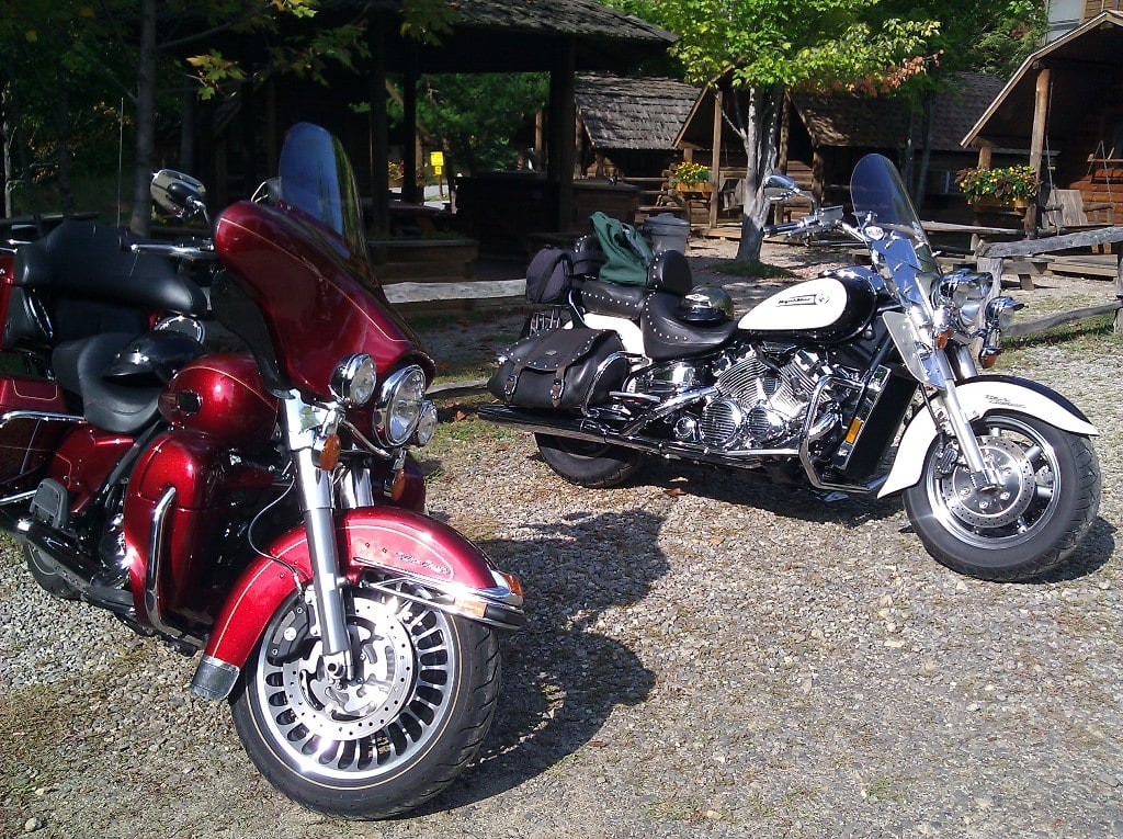 picture of Harley and Yamaha