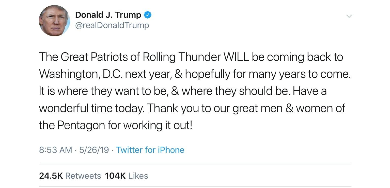 picture of Trump Tweet