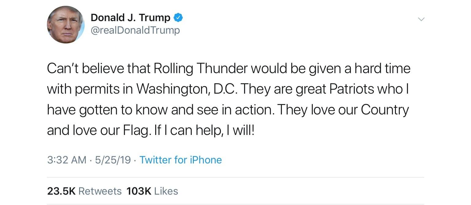 picture of Trump Tweet 2