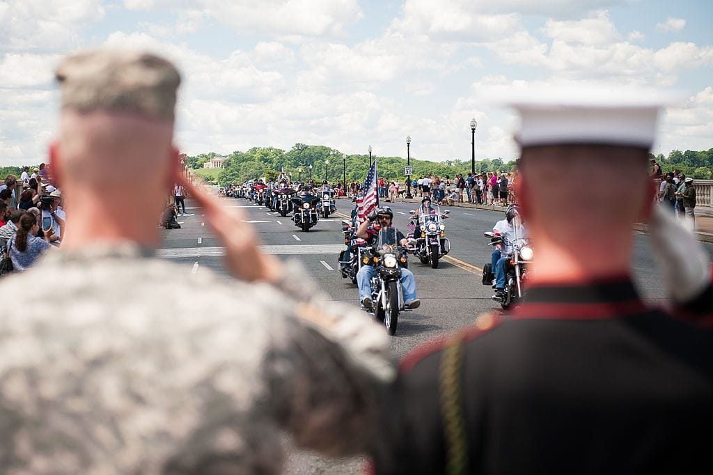 Rolling Thunder salute