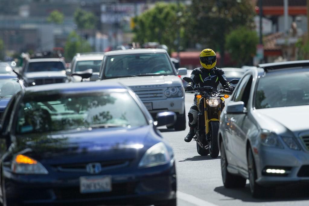 bike in traffic