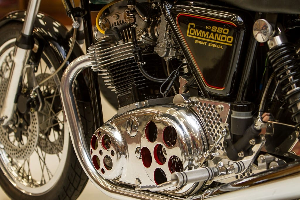 Norton VR 880 Commando Sprint closeup