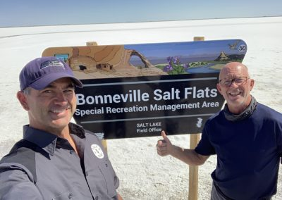 Ted and Steve at Bonneville