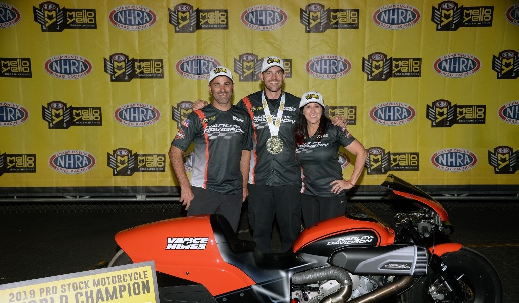 Andrew Hines NHRA Pro Stock Motorcycle Champ 2019