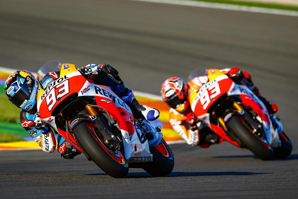 Marquez brothers on track 1