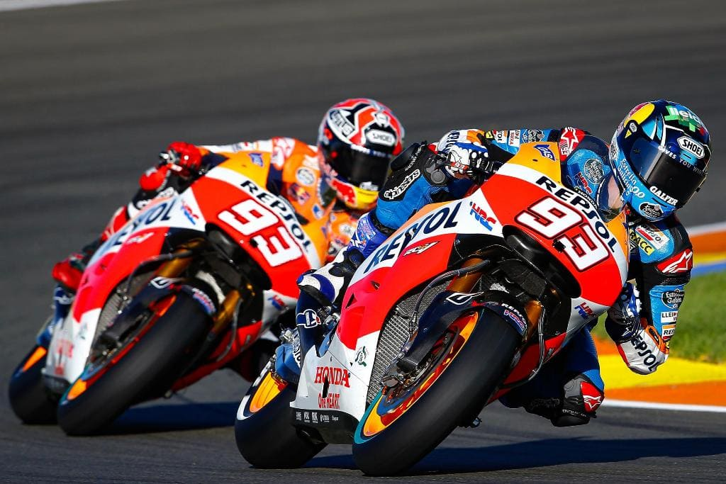 Marquez brothers on track 3