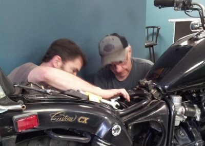 Pop and me wrenching
