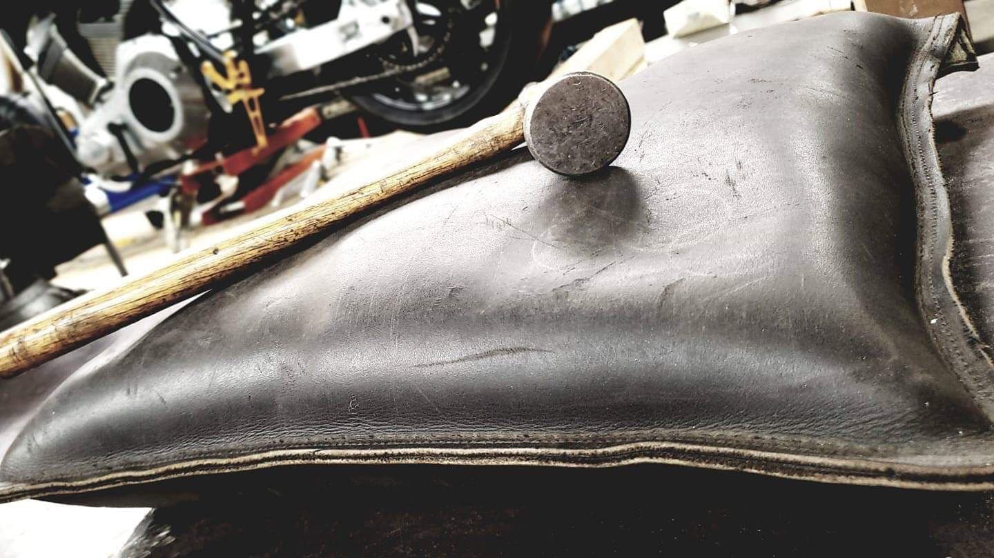 picture of hammer and leather