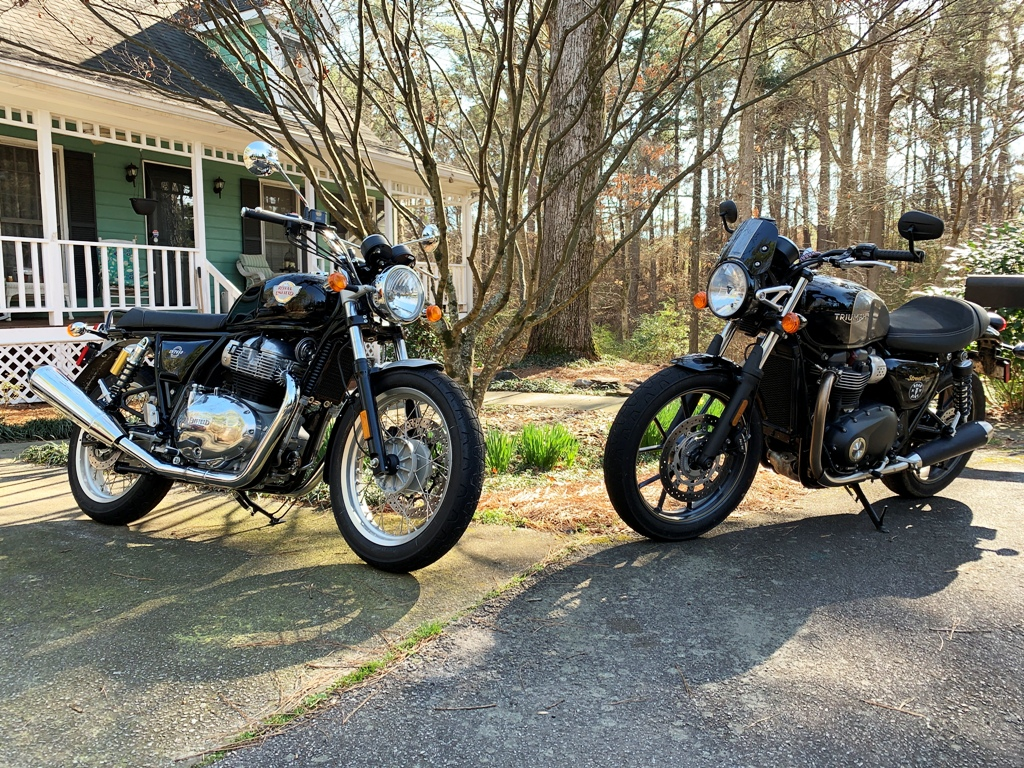 picture of Royal Enfield and Triumph