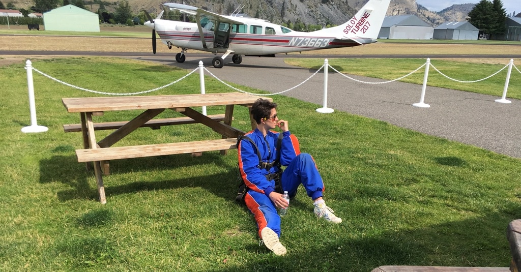 picture of Emily Skydiving