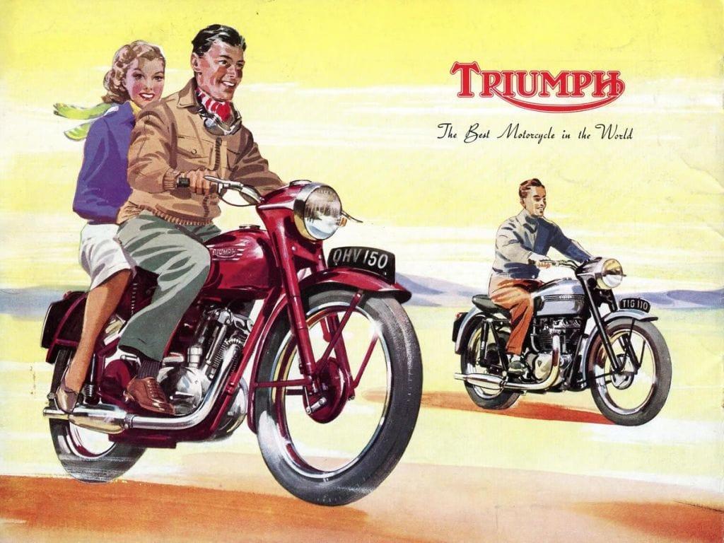 picture of Triumph Tiger ad 1954