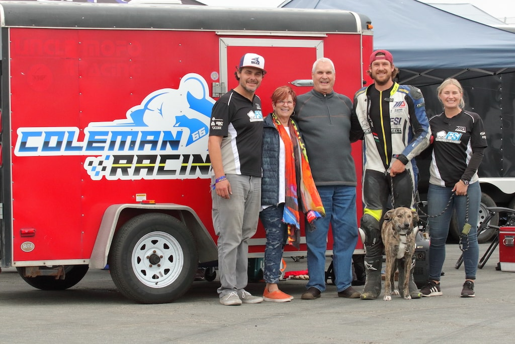 picture of Coleman racing family