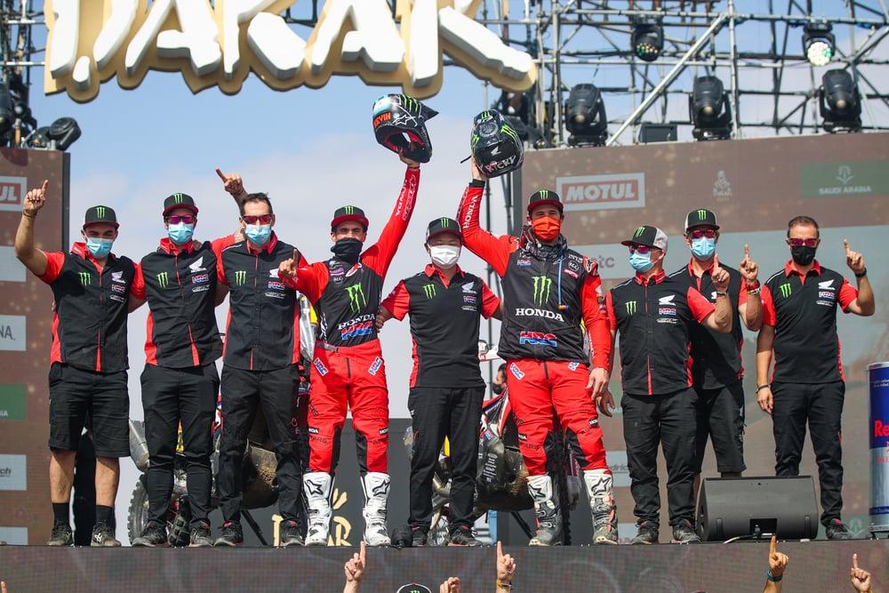 picture of Benavides Brabec Honda Dakar