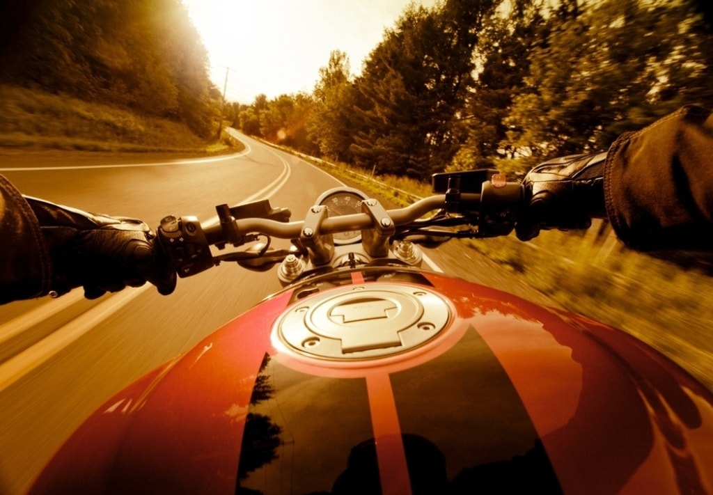 picture of motorcycle ride tank view